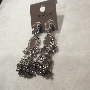 unknown Jewelry - Silver color mirrored dangling earrings.(2/$18)